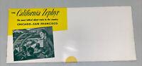 1950's California Zephyr Train Brochure Chicago-San Francisco Never Opened