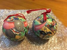 Disney Dumbo Flying Over the Big Top Christmas Ball Ornaments