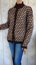SIZE-M, HAND KNITTED Gorgeous Wool Cardigan.