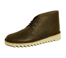 *Clarks Originals Kilve Desert Boots Brown Leather Vibram Sole Mens Uk Size 11 G