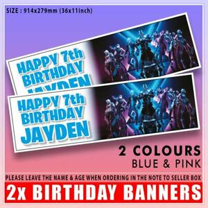 """FORTNITE S10 BIRTHDAY BANNER PERSONALISED x2 36 """"x 11"""" - ANY NAME, ANY AGE"""