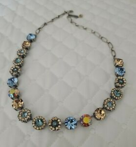 Mariana necklace with bag and colorful stones