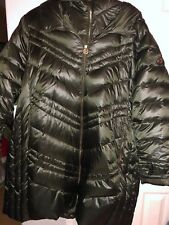 Michael Kors Dark Olive Puffer Hooded Heavy Jacket Coat Women's XXXL 3x