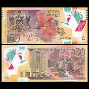 Trinidad and Tobago 50 Dollars, 2015, P-59, Polymer, Banknote, UNC
