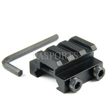 FLAT TOP HALF 1/2 INCH MINI RISER BLOCK MOUNT 3 SLOT PICATINNY RAIL