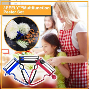 Multifunction Potato Magic Trio Peeler (Set of 3) Vegetable Slicer Fruit Peeler