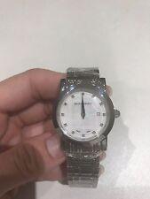 Authentic Burberry Women's Heritage Stainless Steel Diamond Watch BU1370