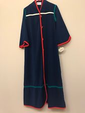 NWT Vintage Kayser Loungewear Housecoat Velour Robe MED/LARGE Toggle Button
