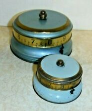 RARE MINI LUX Mystery Rotary Ribbon Tape Measure Clock Annular Art Deco Novelty