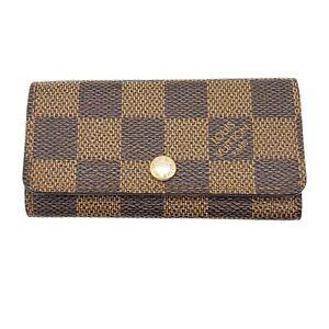 100% Authentic Louis Vuitton Damier Ebene 4 Key case