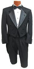 Mens Black Christian Dior Tuxedo Tailcoat Halloween Cosplay Gothic Victorian 42R