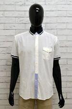 Camicia ARMATA DI MARE Uomo Taglia 42 Collo 16,5 Maglietta Maglia Shirt Elastica