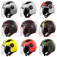 Casco Helmet Jet con Visiera Lunga LS2 OF562 AIRFLOW L Moto e Scooter OMOLOGATO