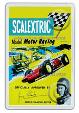 SCALEXTRIC JIM CLARK 1966 ADVERT POSTER ARTWORK NEW JUMBO FRIDGE MAGNET