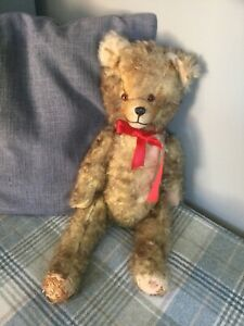 Vintage 1950's Joints Teddy Bear Possibly Hermann Tipped Fur