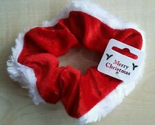 Gorgeous Red & White Christmas Scrunchies Bobble UK SELLER