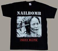 S-5XL NAILBOMB POINT BLANK'94NEW BLACK SHORT/LONG SLEEVE T-SHIRT