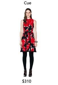 Cue zip front dress size 10