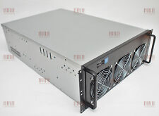 "Server Gehäuse 19"" 4HE 4U Rack Mount Case 8 GPU Cluster HPC 650mm neu + Lüfter"