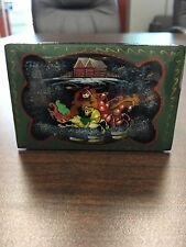 RUSSIAN BLACK LACQUER TROYKA TRINKET HINGED BOX SIGNED
