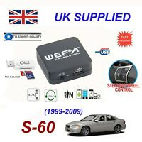 Volvo S60 USB AUX SD Card Reader music streaming CD Quality module HU