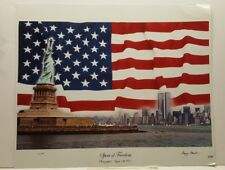 Spirit of Freedom Twin Towers New York August 18 2001 LE Signed  Photo Poster