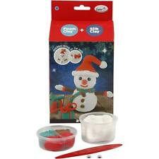Foam Silk Clay Funny Friends DIY Set For Snowman Making Moulding Modelling Craft