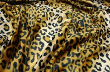 Gold cheetah Leopard Velboa upholstery Fabric per yard 60� wide