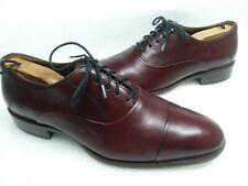 Johnston & Murphy Men's Leather Burgundy Cap Toe Oxford Dress Shoes Size 8.5 D.