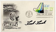 Fred Funk signed autographed cachet envelope! RARE! Guaranteed Authentic!
