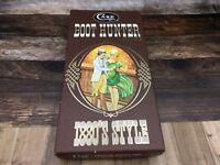 Case XX SS USA 3 Dots (1987) Pakawood Handle P62-4 1/2 Boot Hunter & Sheath Mint