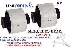 MERCEDES W216 W221 Front Suspension Lower Control Arm Bushing SET LEMFOERDER