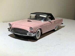 "DANBURY MINT 1957 FORD THUNDERBIRD CONVERTIBLE L.E.#150 DUSK ROSE ""RARE"""