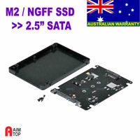 "M.2 NGFF ""B"" key SSD to Standard 2.5"" SATA 3 III Converter Box case Enclosure"