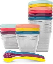 Babymoov BABYBOLS MULTISET WITH SPOONS Baby Feeding Weaning Bowls Storage BN
