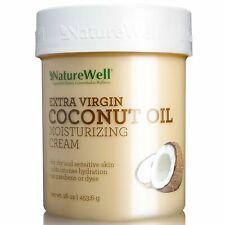 New ! 4 X 16 oz Nature Well Extra-Virgin Coconut Oil Moisturizing Cream