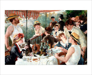 Renoir - Luncheon of the Boating Party - fine art print poster - various sizes