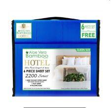 Aloe Vera Bamboo Bed Sheet 6 PIECE SET!!! Queen Size DEEP POCKETS Wrinkle Free!!