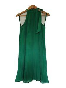 Wayne Cooper Green Dress Size 8 pinch pleat