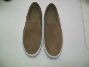 Womens Size 6 Brown Taupe Suede Slip On