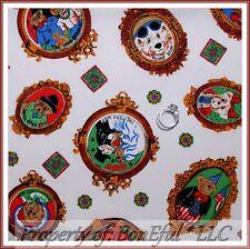 BonEful Fabric FQ Quilt VTG Family American Flag Teddy Bear Wedding Frame Retro