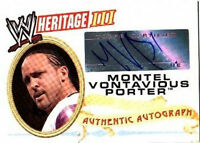 WWE MVP 2007 Topps Heritage III Authentic Autograph Card WWF