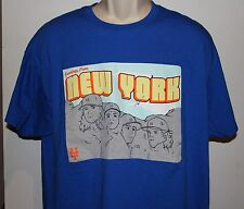 New York Mets Mount Rushmore of Pitchers Men's XL Blue T Shirt- Matt Harvey