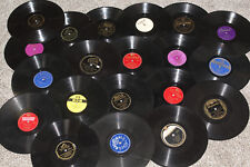 Lot of 20 78 RPM Records Random Pick Jazz Country Pre Post War Craft Playable