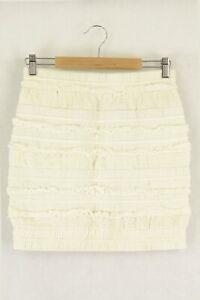 Iro White Skirt 38 by Reluv Clothing