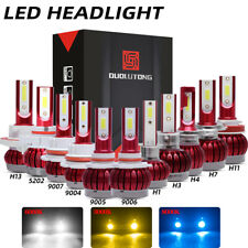 H1 H3 H4 H7 H11 H13 9004 9005 9006 9007 5202 LED Headlight Kit Hi Low Fog Light