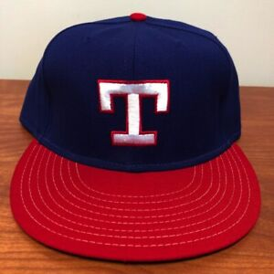 Texas Rangers Hat Baseball Cap Fitted 7 1/2 Annco Vintage 80s MLB Retro Mens USA
