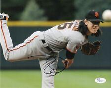 Tim Lincecum San Francisco Giants Signed Autograph 8 x 10 Photo JSA I85558