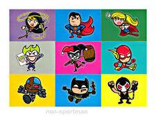 DC EPIC BATTLES CRYPTOZOIC BAM! STICKER SET (9)