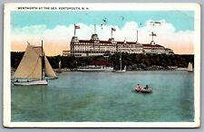Postcard Portsmouth NH c1934 Wentworth by the Sea Boats Now Marriott Hotel & Spa